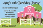 Personalised Horse Riding Theme Invitations